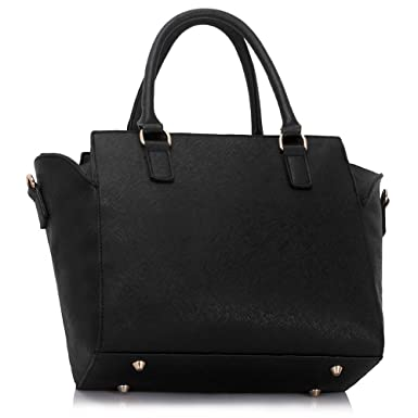 Ladies Women s Fashion Designer Celebrity Tote Bags Hot Selling Quality  Faux Leather Style Cross Body Handbag CWS00353 (Black)  Amazon.co.uk   Clothing a7cc22ae1a7d6