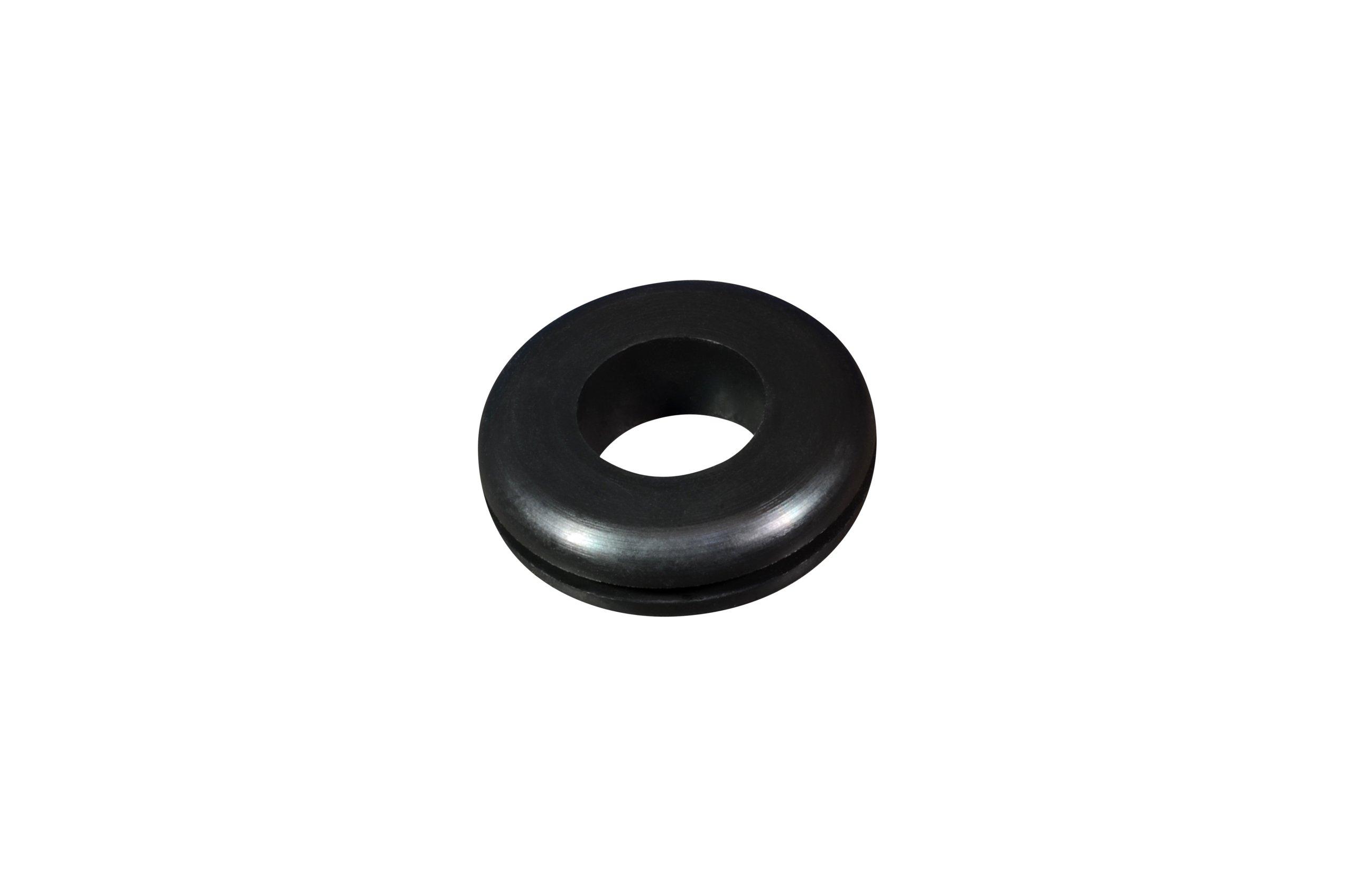 Buna-N Military Grommet, 7/16'' OD x 3/16'' ID, 5/16'' Groove Diameter, 1/16'' Groove Width, 50P Durometer (Pack of 25)