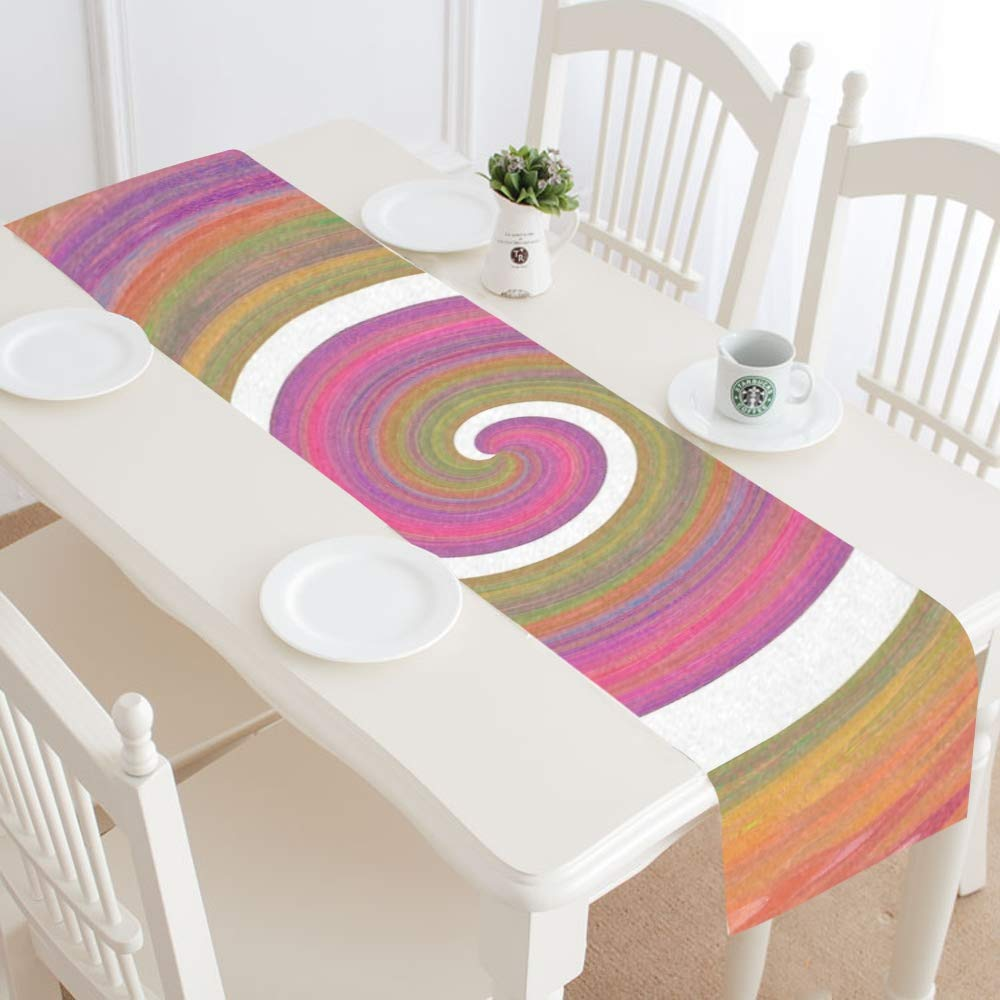 Eddy Color Texture Structure Abstract Table Runner, Kitchen Dining Table Runner 16 X 72 Inch For Dinner Parties, Events, Decor by RYUIFI (Image #2)
