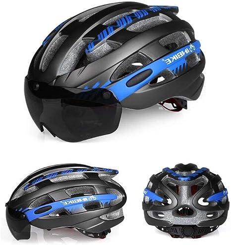 Casco para Bicicleta con Gafas Protectoras Magnéticas Desmontables ...