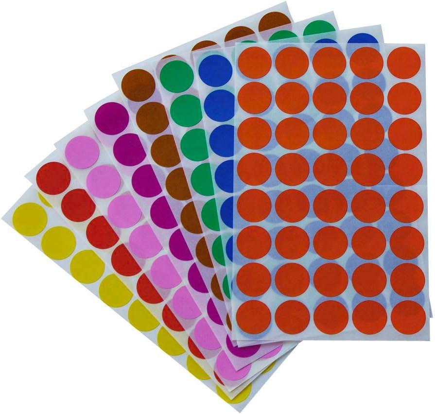 Runde Etiketten 19 mm Aufkleber Grau, 1050 in verschiedenen Farben Gr/ö/ße 1,9 cm Sticker von Royal Green