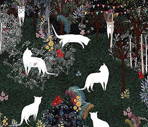 Cat Heaven Art /& Ghosts Illustration Fantasy Garden Animal Print Poster 23x20