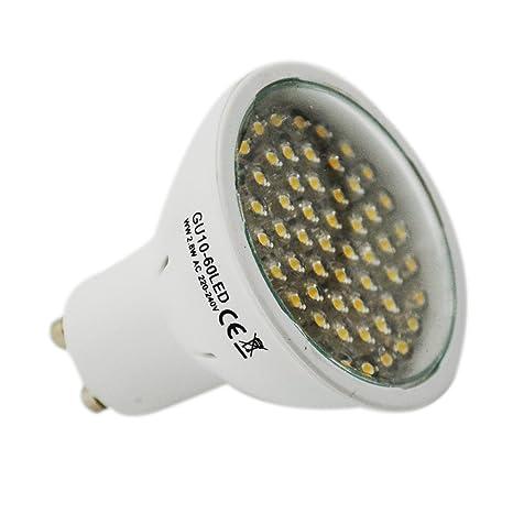 GU10 LED 3W GU10 BOMBILLA CON 60 BRIGHT LED Super LED BOMBILLAS - Las más brillantes