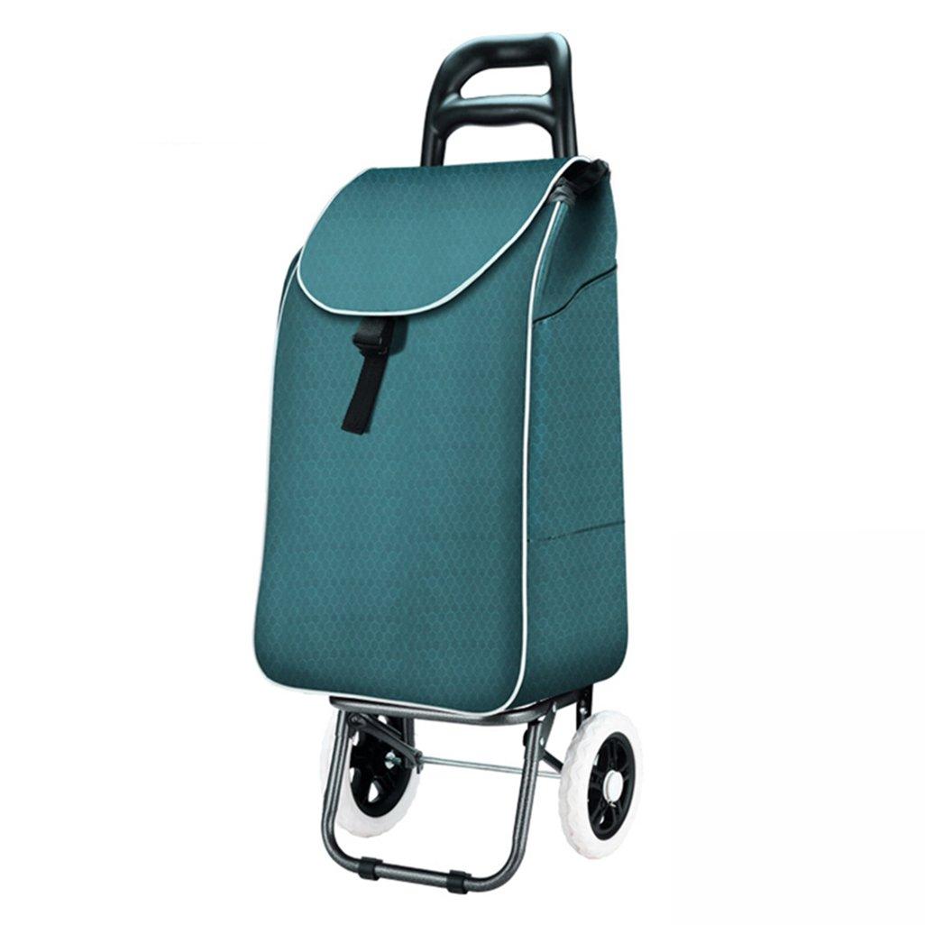JJJJD ショッピングカート、ショッピングカート、小型カート、携帯用トロリー、折り畳み式トロリー、荷物、トロリー、アンチスキッド設計、防水および防湿   B07R862Z7K