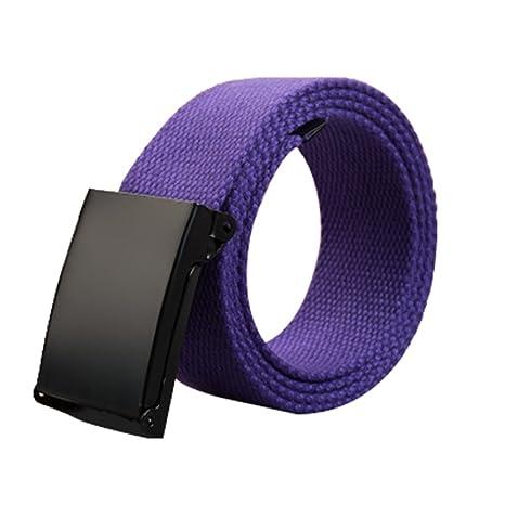 doitsa cinturón de tela tela para hombre y mujer cinturón trenzado cinturón en lienzo décontractée para jóvenes/Etudiants Size… BEecV