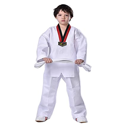 WTUGAIOHG Traje De Taekwondo para Niños Adultos, AlgodÓN ...