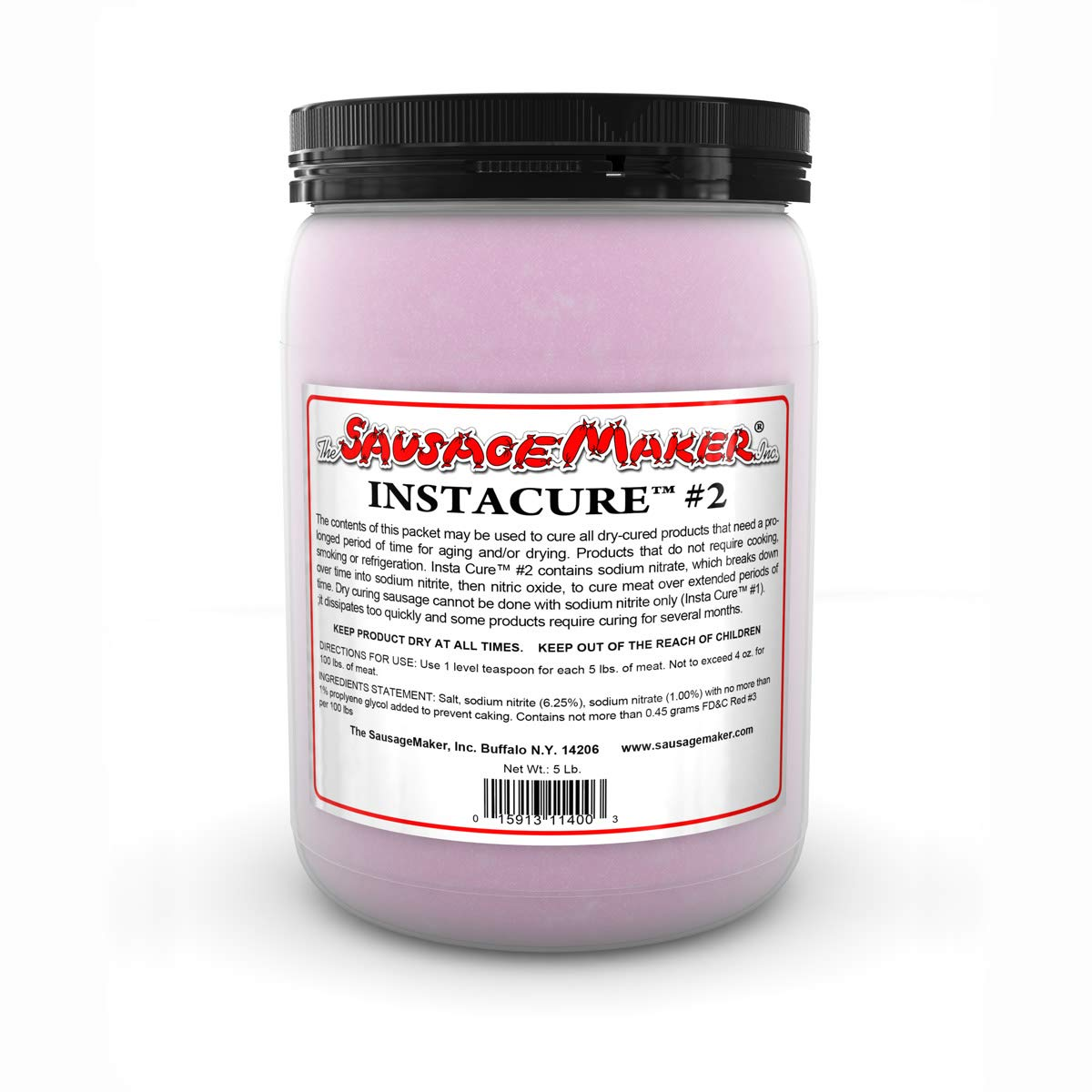 The Sausage Maker - Insta Cure (Prague Powder) #2, 5 lbs. Curing Salt for Sausage and Meats