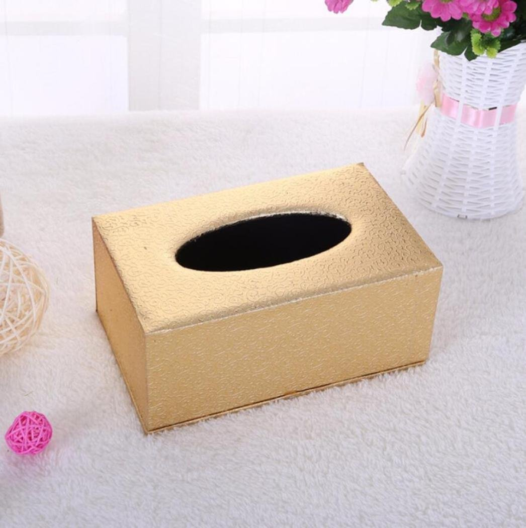 LaaLaa Boxes of tissues,Continental leather PU tissue box,household products Hotel Guest room Paper box desktop Storage Box,bath accessories tissue box,B2