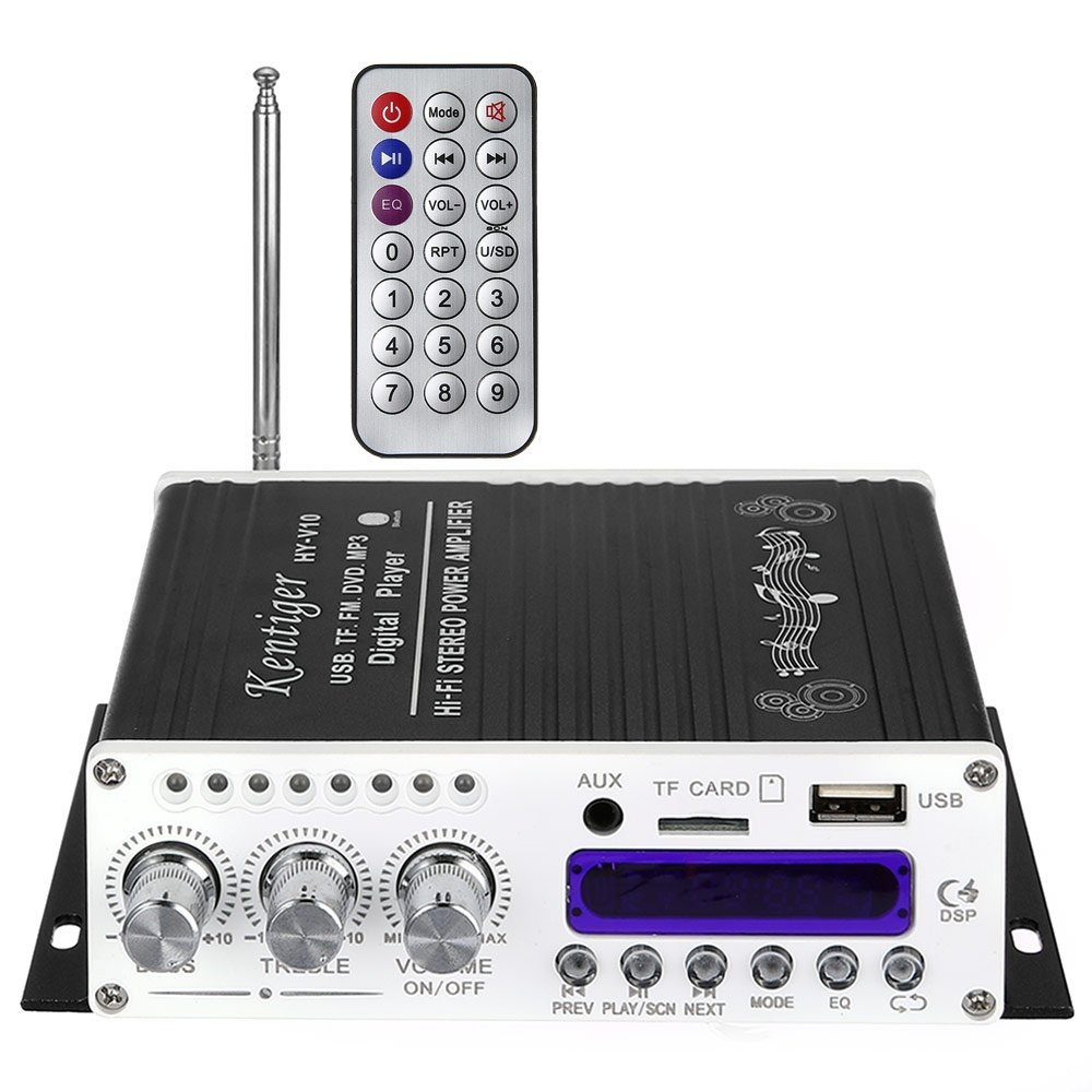 Robolife Usb Kentiger V10 Bluetooth Hi Fi Stereo Super 25 Watt Mono Classd Audio Power Amplifier Circuit Bass With Romote Control Without Cord Home Theater
