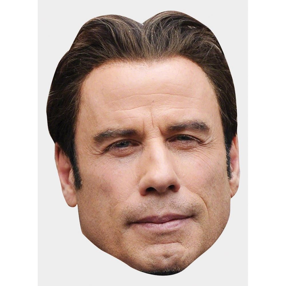 John Travolta Celebrity Mask, Cardboard Face and Fancy Dress Mask by Celebrity Cutouts