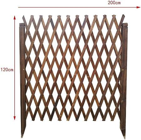 HJHL Paneles de cercas de jardín Jardín de Madera Enrejado Valla Planta arqueada Creciente Pantalla de Soporte Rejilla Telescópica Barandilla Jardín Exterior Cerca de Mascotas Cerca Cerca de Jardín: Amazon.es: Hogar