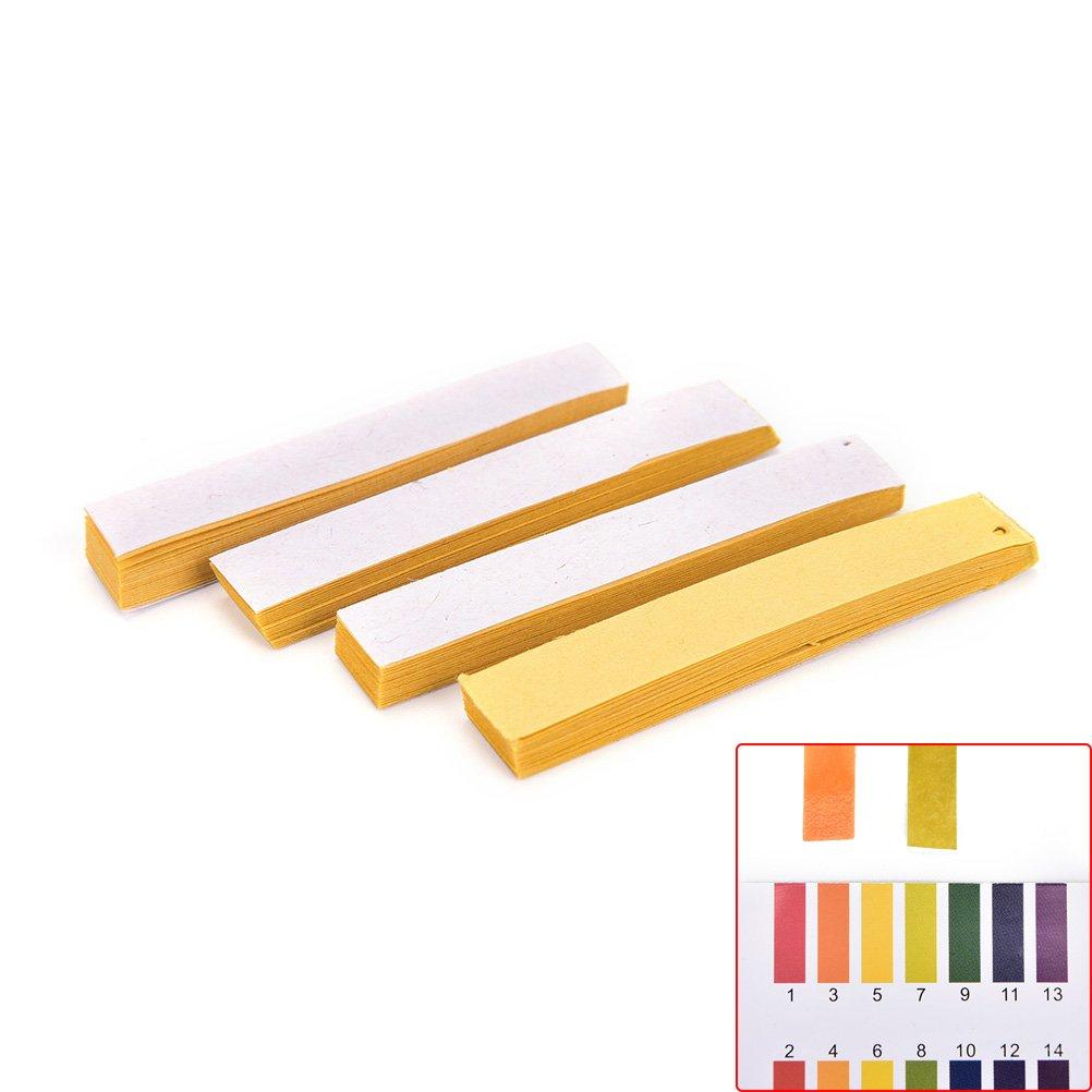 TUANTUAN 10 Packs PH Test Strips PH 1-14 Test Indicator Litmus Paper Strips Tester for Saliva Urine Water Soil Testing (800 Strips) by TUANTUAN (Image #5)