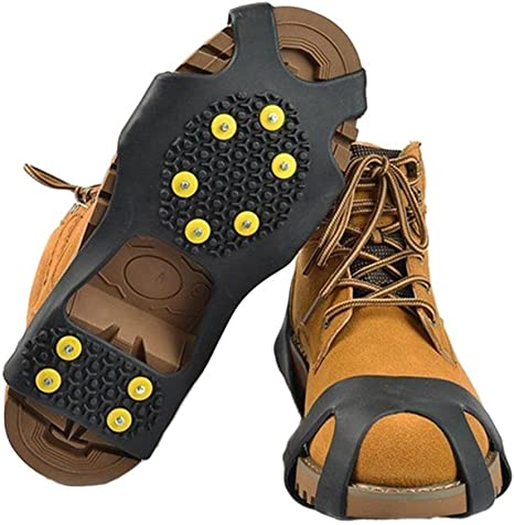 Ice Snow Spikes Grips Grippers Crampon Cleats for Shoes BOOTS Overshoe Anti Slip