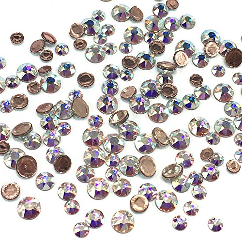 Crystal AB (001 AB) 2038 / 2078 Swarovski Iron on HOTFIX Mixed sizes ss12 ss16 ss20 Flatbacks round Rhinestones embellishment