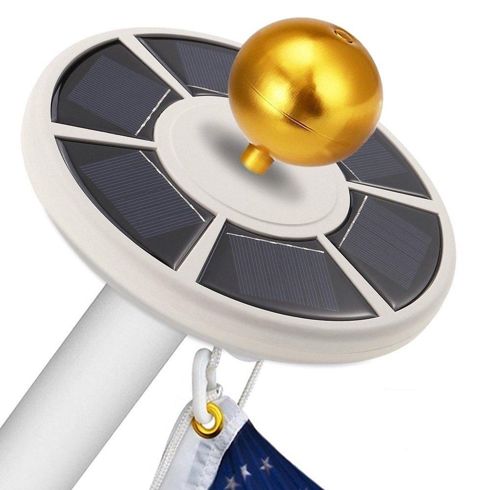 certainPL LED Camp Light, 8.5'' Solar Powered 26 LEDs Super Bright Tent Lights for Outdoor (White)