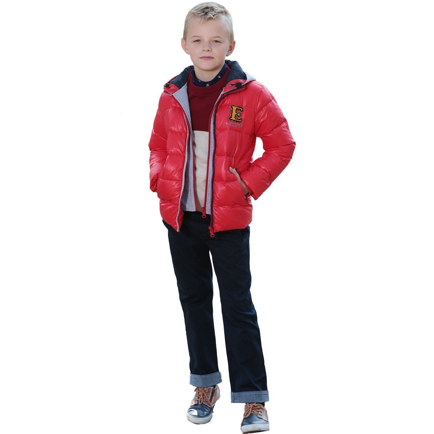 Leo/&Lily Boys Winter Padded Puffer Down Jackets Outwear Coats