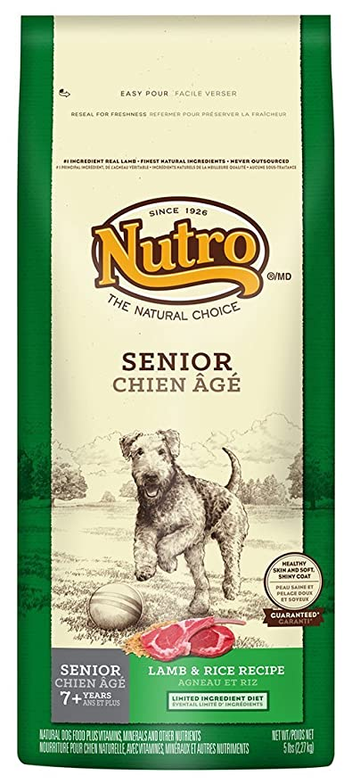 NUTRO Natural Choice Lamb & Rice Recipe Senior Healthy Skin Coat ...