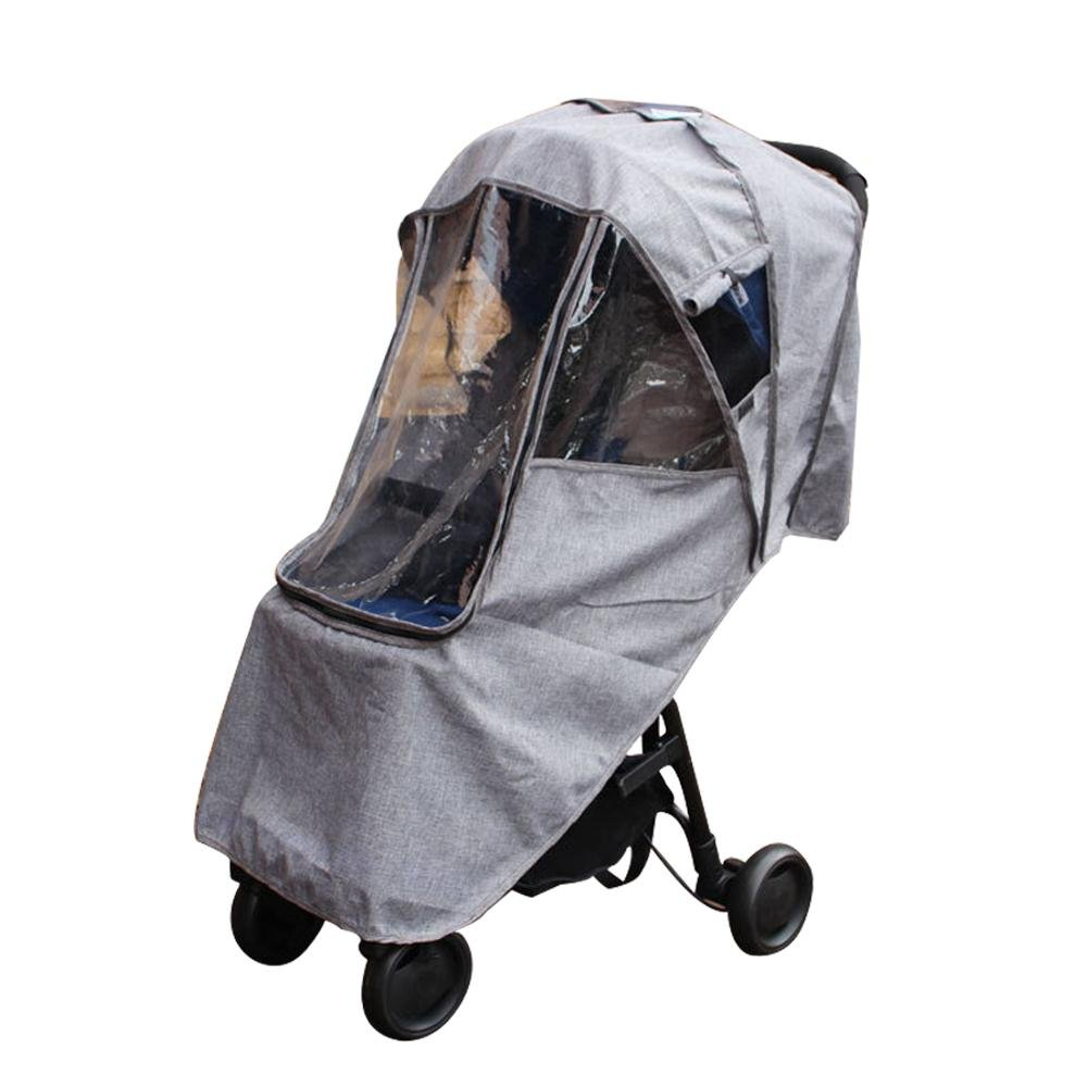per Gray Baby Stroller Rain Cover with Zipper Breathable Waterproof Windproof Sun Protection Universal Stroller's Accessory