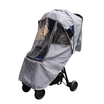 per Gray Baby Stroller Rain Cover with Zipper Breathable Waterproof Windproof Sun Protection Universal Strollers Accessory