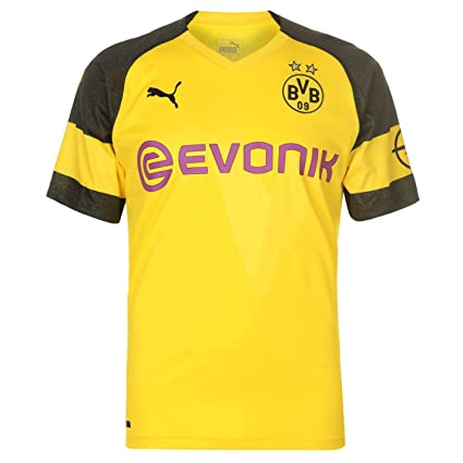 bc06e890447 Amazon.com   PUMA 2018-2019 Borussia Dortmund Home Football Soccer T ...