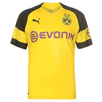 Puma Men's BVB Home Shirt Original with Evonik Opel Logo Jersey