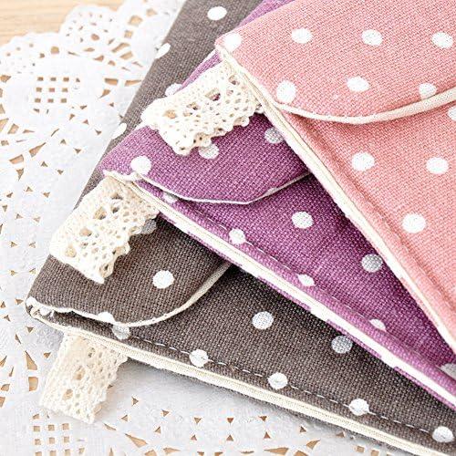 Distinct/® 2pcs Women Sanitary Towel Napkin Pad Dainty Purse Holder Bag Random Color