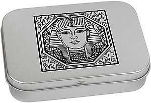 Azeeda 110mm 'Egyptian Square Motif' Metal Hinged Tin / Storage Box (TT00026815)