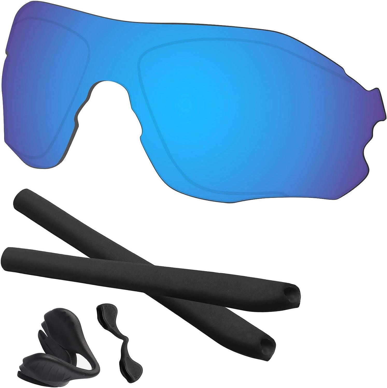 fazzoletto di carta Conciso implicito  Amazon.com: Predrox Blue Mirror EVZero Path Lenses & Rubber Kits Replacement  for Oakley Sunglass OO9308 Polarized: Clothing