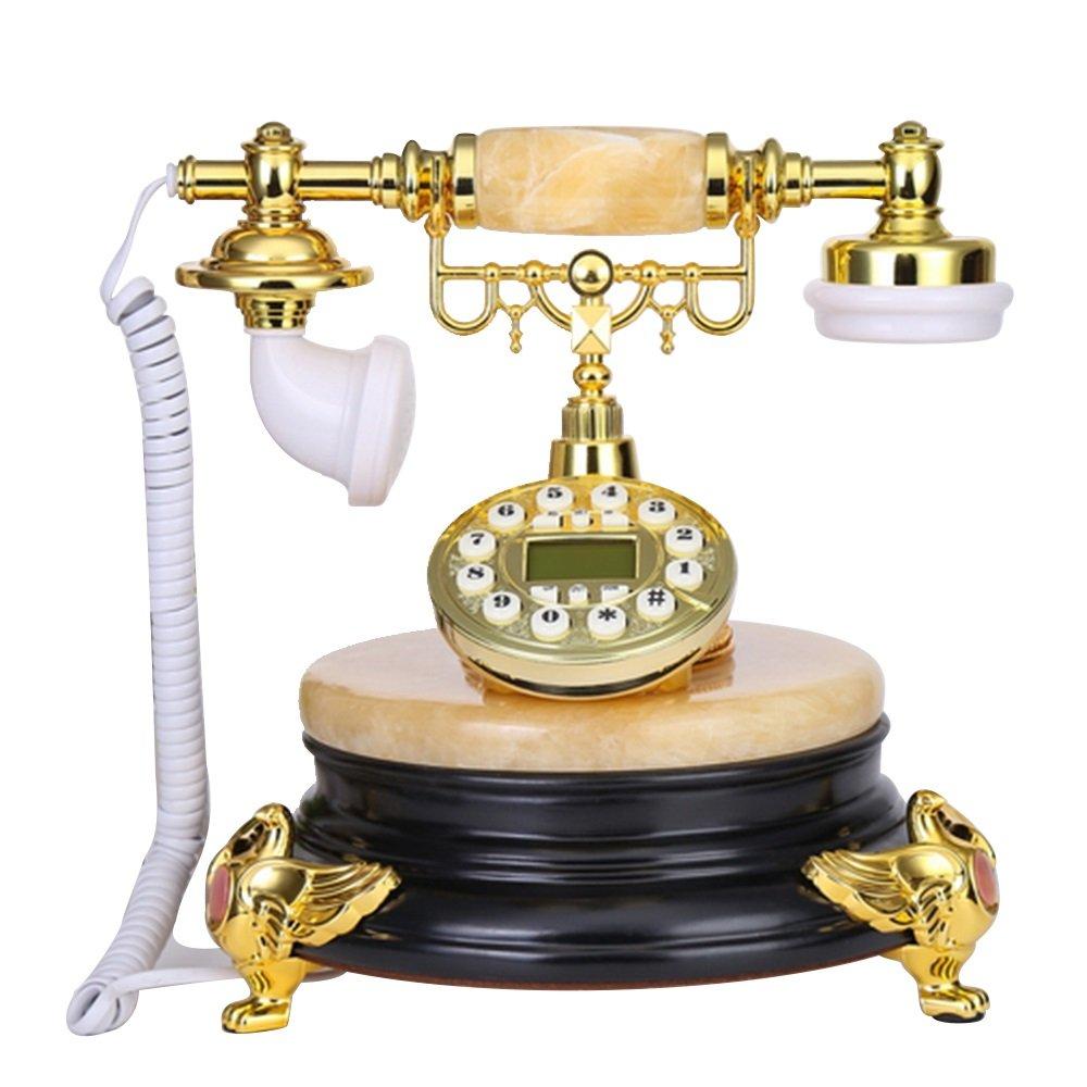 レトロ電話 ファッションクリエイティブヨーロッパの電話ナチュラルジェイドホームアメリカの固定電話レトロ電話245 * 230 * 260ミリメートル @ (色 : C)  C B07K221RBT