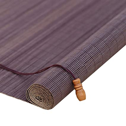 Amazon.com: Roller Shades Brown Venetian Blinds/Bamboo ...