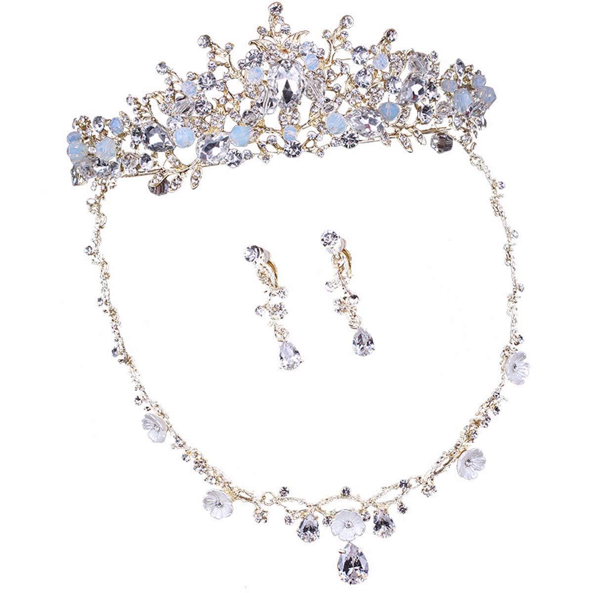 Girls Crown, Beautiful headdress/Crown Dress Bridal Wedding Accessories Necklace Baroque Crown Wedding Accessories by Zehaer (Image #1)