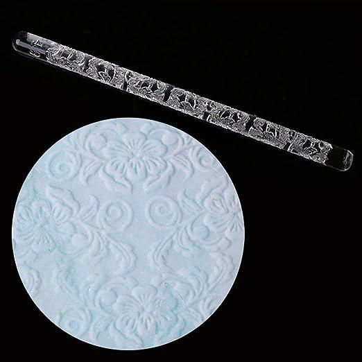 Long Fur Texture Embossing Acrylic Rolling Pin sugarcraft cake decorating