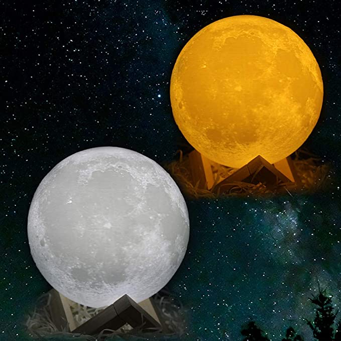 DEAL OF THE DAY! LED 3D PRINTING MOON DAY AND NIGHT LAMP