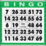 1/2 Sheet - Green Bingo Card Birthday - Edible Cake/Cupcake Party Topper