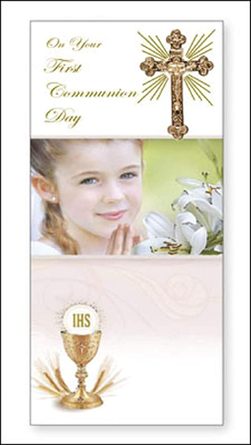 Primera Comunión día - Tarjeta de felicitación en caja ...