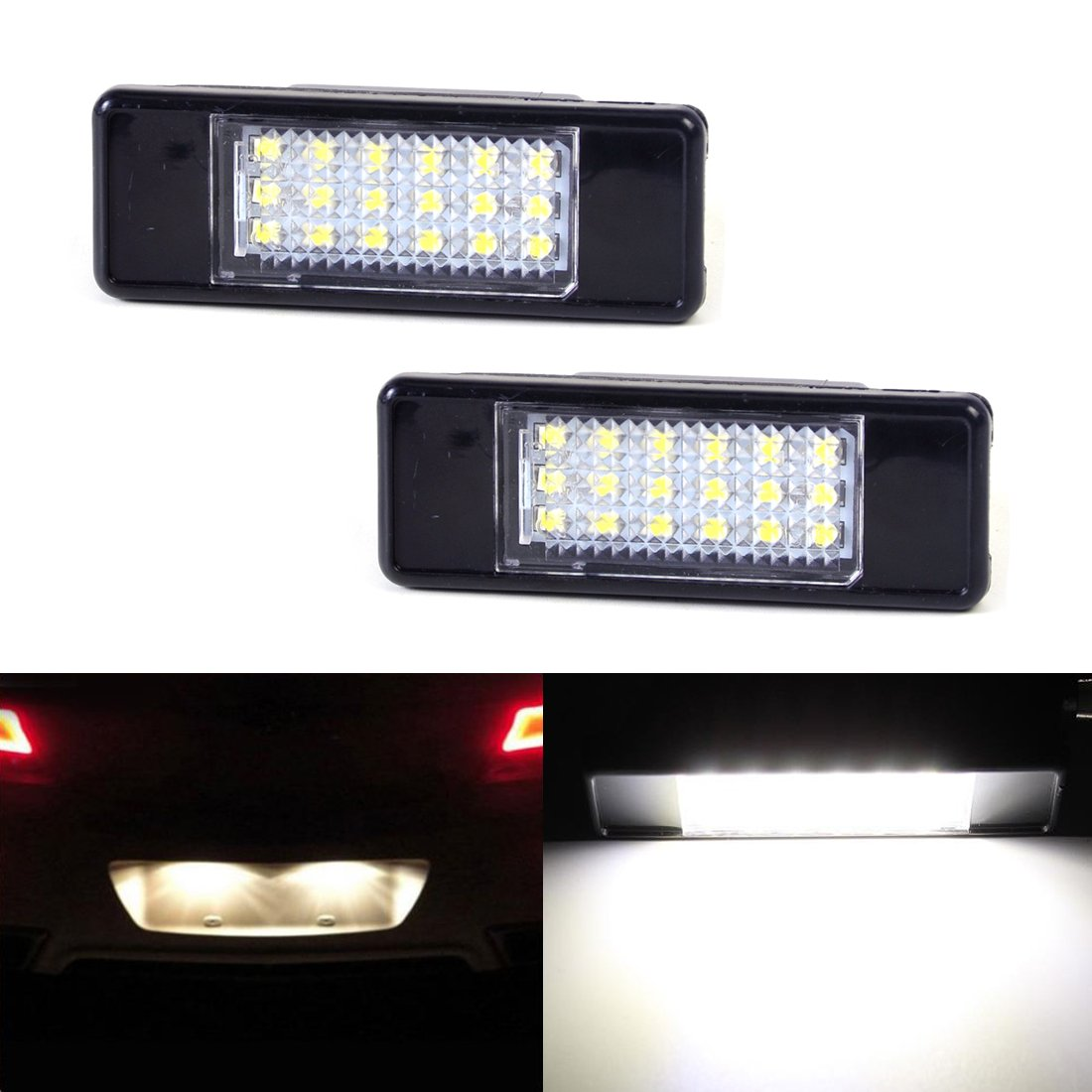 Haichen 18SMD numero di targa a LED super bianco 6000 K auto parcheggio esterno lampada