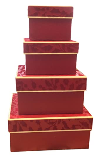 Image Unavailable. Image not available for. Color Nesting Gift Boxes ...  sc 1 st  Amazon.com & Amazon.com: Nesting Gift Boxes with Lids u2013 4 Assorted Sizes for ...