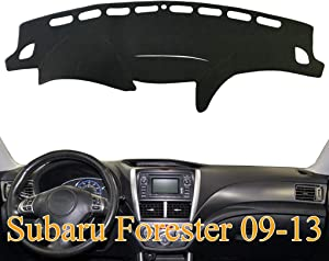 Yiz Dashboard Cover Dash Cover Mat Fit for Subaru Forester 2009 2010 2011 2012 2013 (09-13 Black) Z04