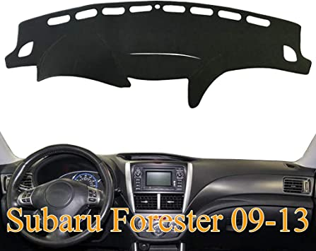 AKMOTOR Dash Cover Dashboard Cover Pad Mat Fit for Subaru Forester 2009 2010 2011 2012 2013 Z04 09-13 Black