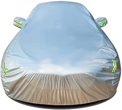 Silver White Car Cover Durable For Nissan Dustproof Waterproof Breathable