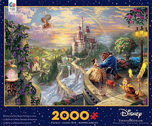 Ceaco Disney's Beauty & The Beast Puzzle by Thomas Kinkade Puzzle (2000 Piece)