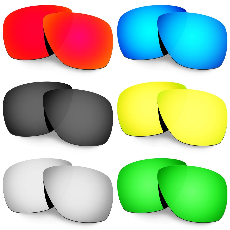 Hkuco 交換用レンズ For Oakley Breadbox Sunglasses  レッド/ブルー/ブラック/ゴールデン/チタンカラー/グリーン B071FNTZ7F
