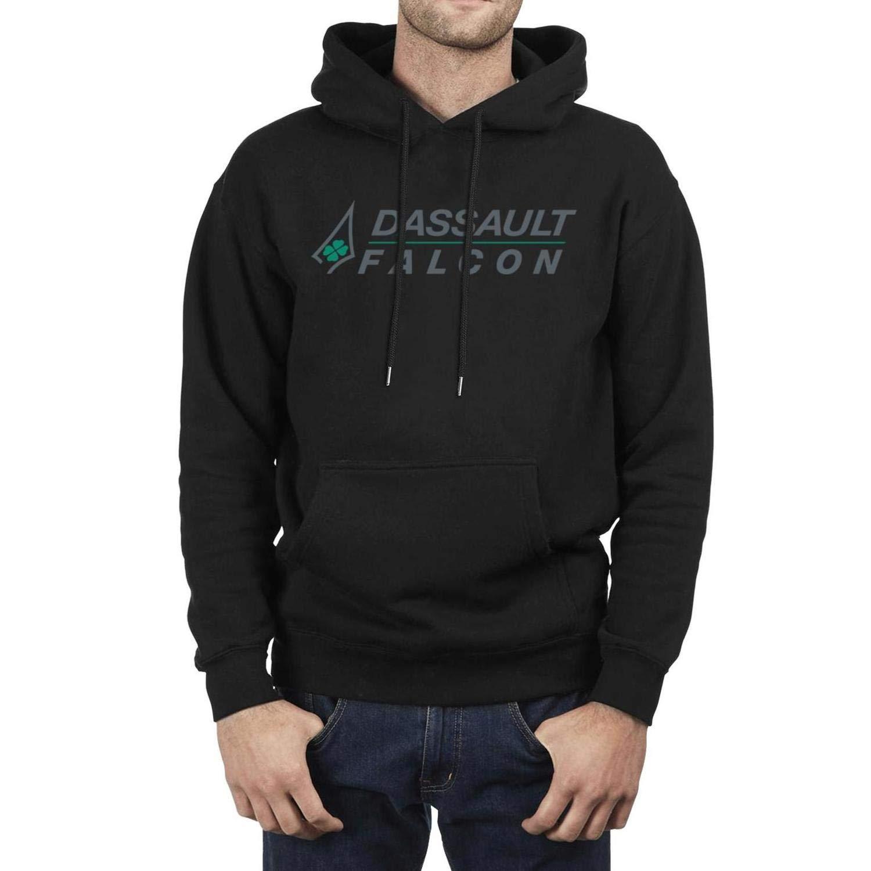 Fleece Long Sleeve IHOID Mens Pullover Hoodie Sweatshirt Dassault-Aviation-Logo