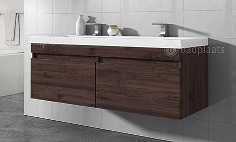Mobile da bagno avellino bacino cm in legno di noce
