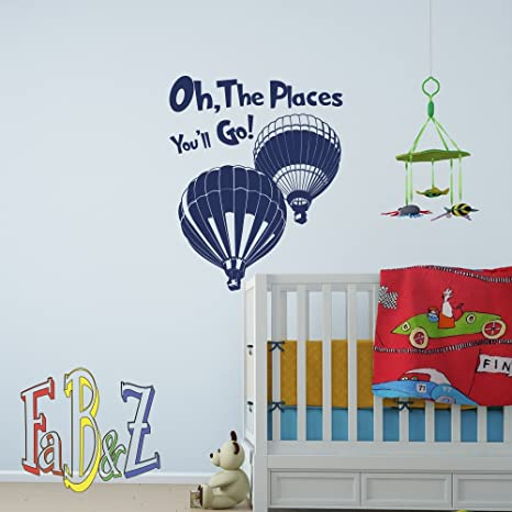 Amazon.com: Oh The Places You\'ll Go Quote Dr Seuss Wall Decal Vinyl ...