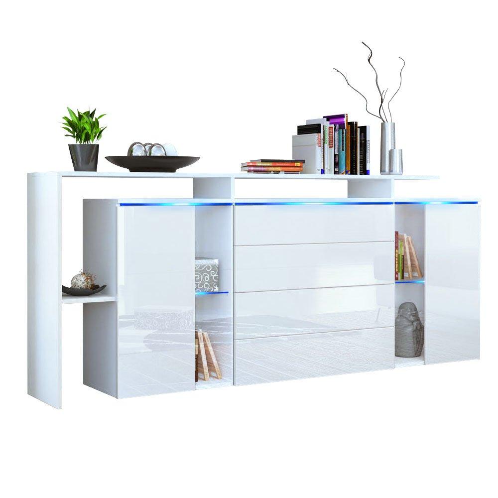 sideboards wei hochglanz trendy sideboard weiss hochglanz tiefgezogen schwarz jetzt bestellen. Black Bedroom Furniture Sets. Home Design Ideas