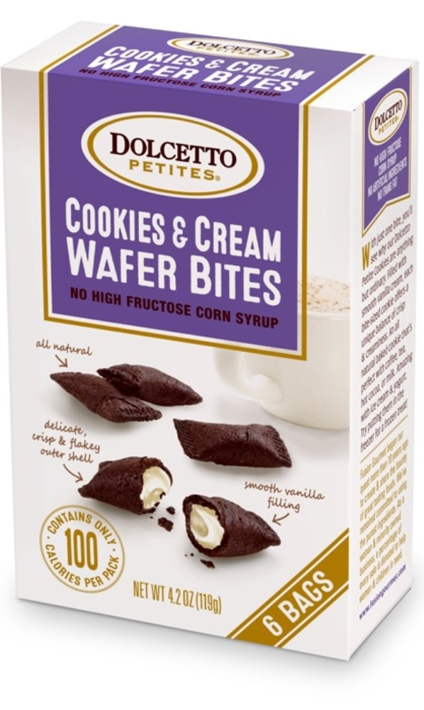 Dolcetto Petites Cookies & Cream Wafer Bites - Pack of 3, 4.2 Oz. Ea.