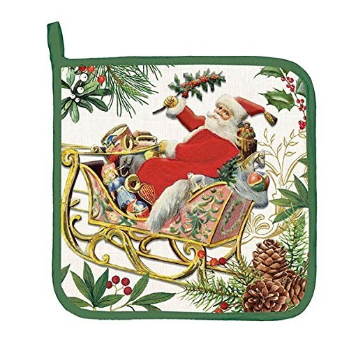 Jolly Santa Potholder