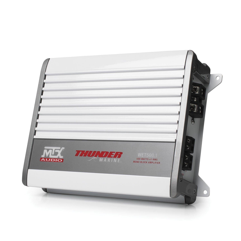 MTX Audio WET500.1 500W RMS Mono Block Class D Marine Amplifier