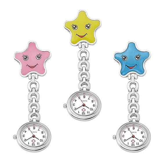 Reloj de Bolsillo para Enfermeras, de Cuarzo, con Cierre de Clip, de aleación